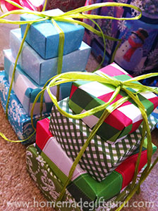 AWESOME homemade gift idea... You can use paper with trendy patterns to make a super cool gift tower perfect for any teenager gift. Fill each origami box with candy or other homemade items.