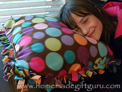 No-sew fleece pillow cases can be made to suit any teen. Whether they like a certain color, pattern or a sports team... this homemade gift idea for teens is easy to customize!
